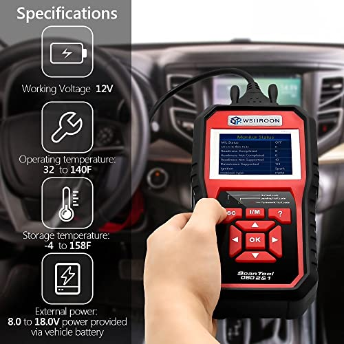 Professionals will enjoy the full range of features offered by the Wsiiroon SR850 Professional OBDII Scanner
