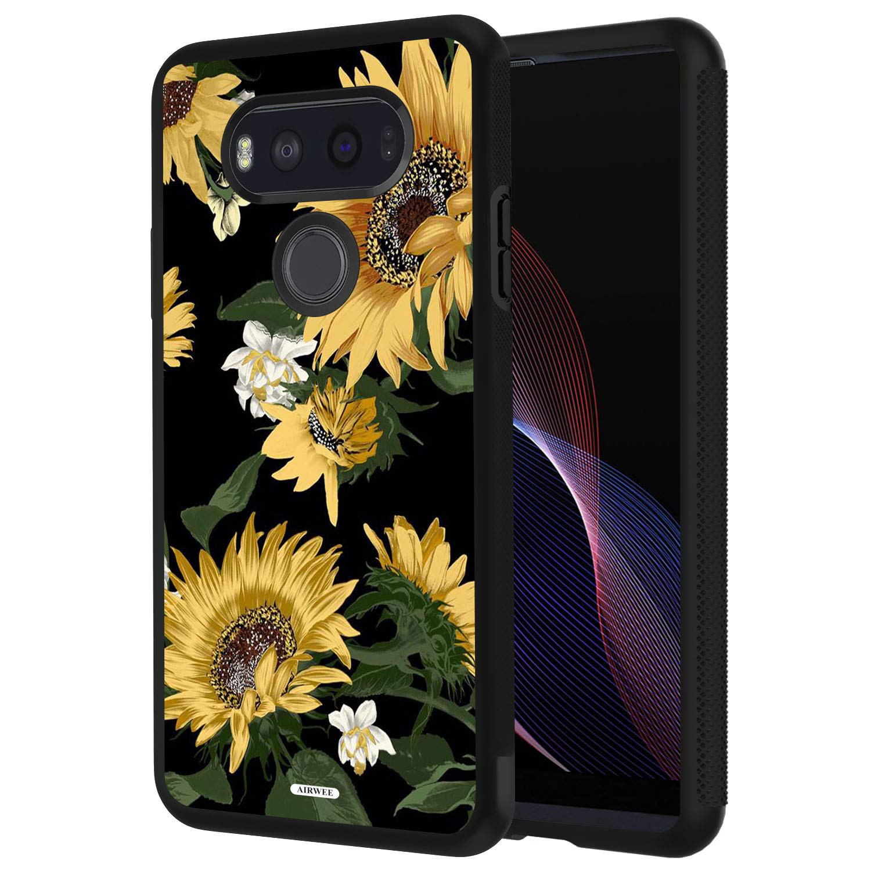 LG V20 Case, AIRWEE Slim Shockproof Silicone TPU Back Protective Cover Case for LG V20 2016 (5.7 inch),Sunflower Floral