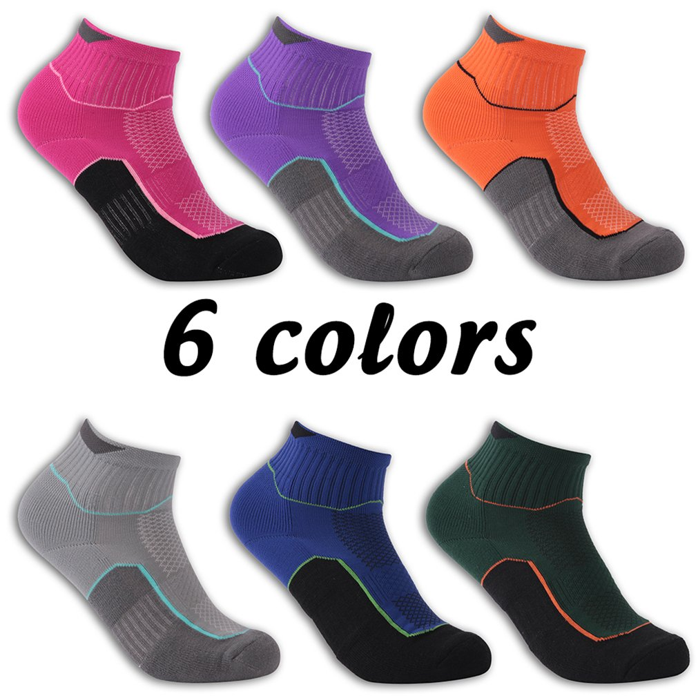 luccalilyユニセックスクッション足首サポートショートトレッキングハイキングQuarterソックス1 , 3ペア B07B8RGYKN Medium|3 pair orange 3 pair orange Medium