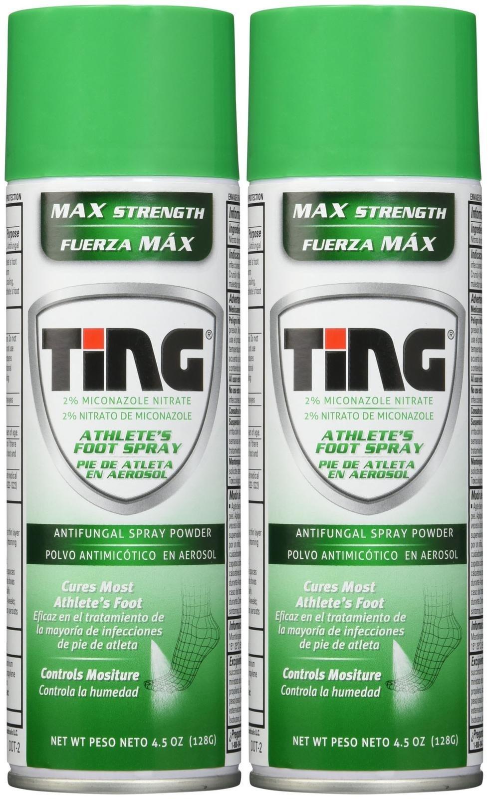 Ting Athlete's Foot and Jock Itch Anti-Fungal Spray Powder, 2 pk