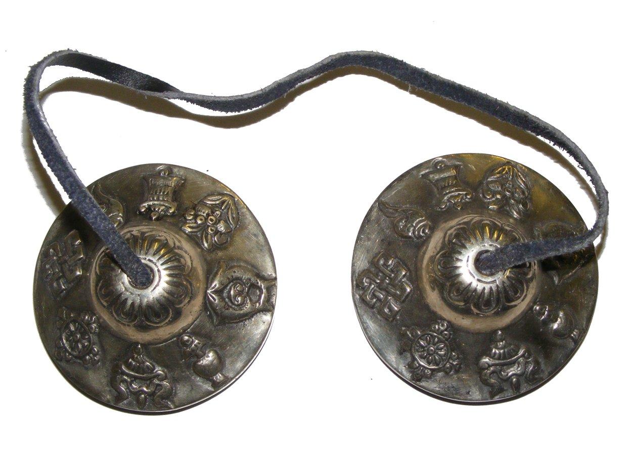 Tibetan Cymbals / Tingshas/ Meditation and Prayer Cymbals - Medium