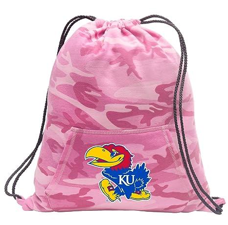 Amazon.com   Broad Bay Cute Camo University of Kansas Drawstring Bag ... 02aa33e60