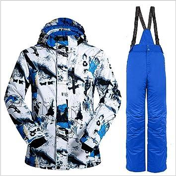 Traje de Pantalones de Chaqueta de esquí de Nieve Profesional de la Nieve Salvaje Traje a