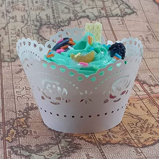 Amazon.com: YeahiBaby Cupcake Wrappers Heat Resistant Cupcake Liners Thicken Muffin Cup - 50pcs (White): Toys & Games