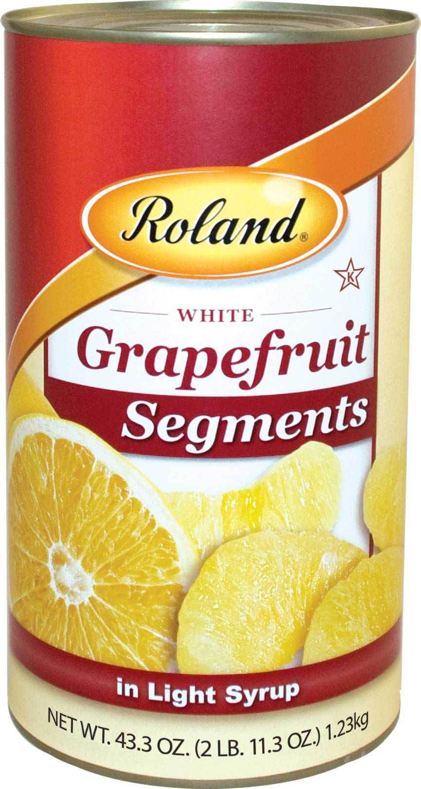 Roland Grapefruit, Segments in Light Syrup, 43.3 Ounce (Pack of 4)