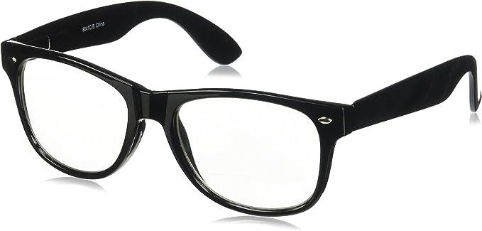 RETRO BLACK Fashion STYLE GEEK NERD CLEAR LENS GLASSES