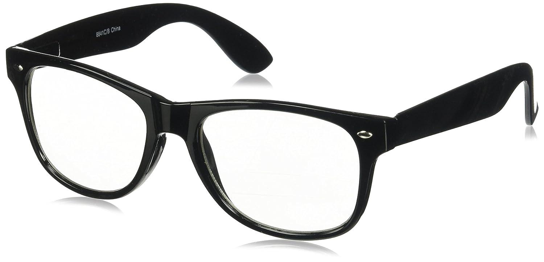 4933e2924 Amazon.com: RETRO NERD Geek Oversized BLACK Framed Spring Temple Clear Lens  Eye Glasses: Clothing