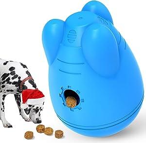 Treat Dispensing Dog Toys Interactive, Wobble Dog Puzzle Toys for Large Medium Dogs - IQ Dog Treat Ball, Dog Food Dispenser Toy, Interactive Dog Toy