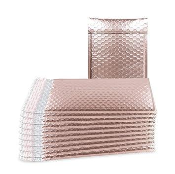 Amazon.com: Paquete de 25 bububujas de oro rosa 7,25 x 11 ...