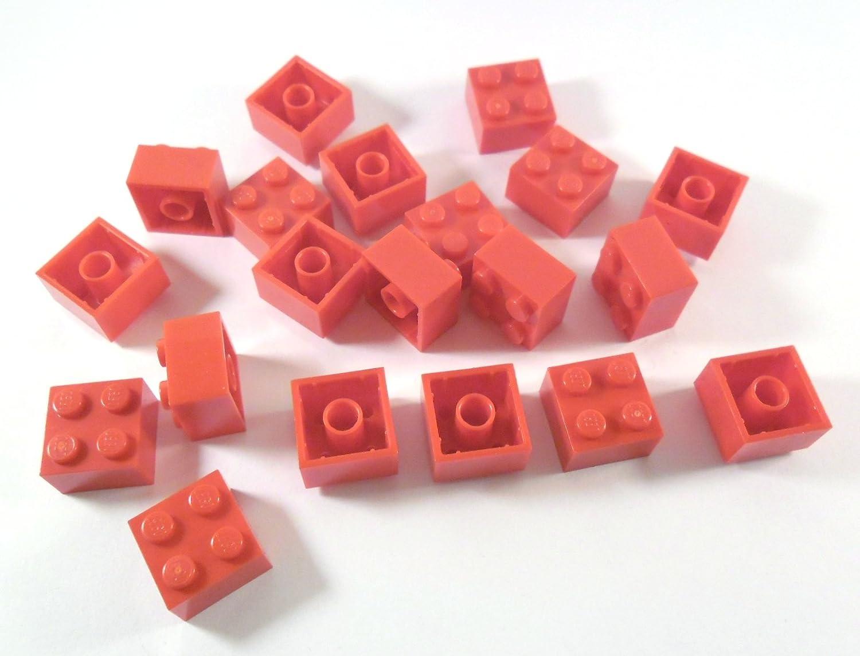 Teller Dekel mit loch transperant rot LEGO®  2x2 Schüssel