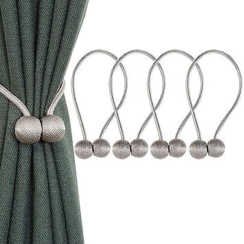 Alzapaños de cortinas magnéticos, de IHCLink, tejidos, para el hogar, oficina, decoración, 4 unidades: Amazon.es: Hogar