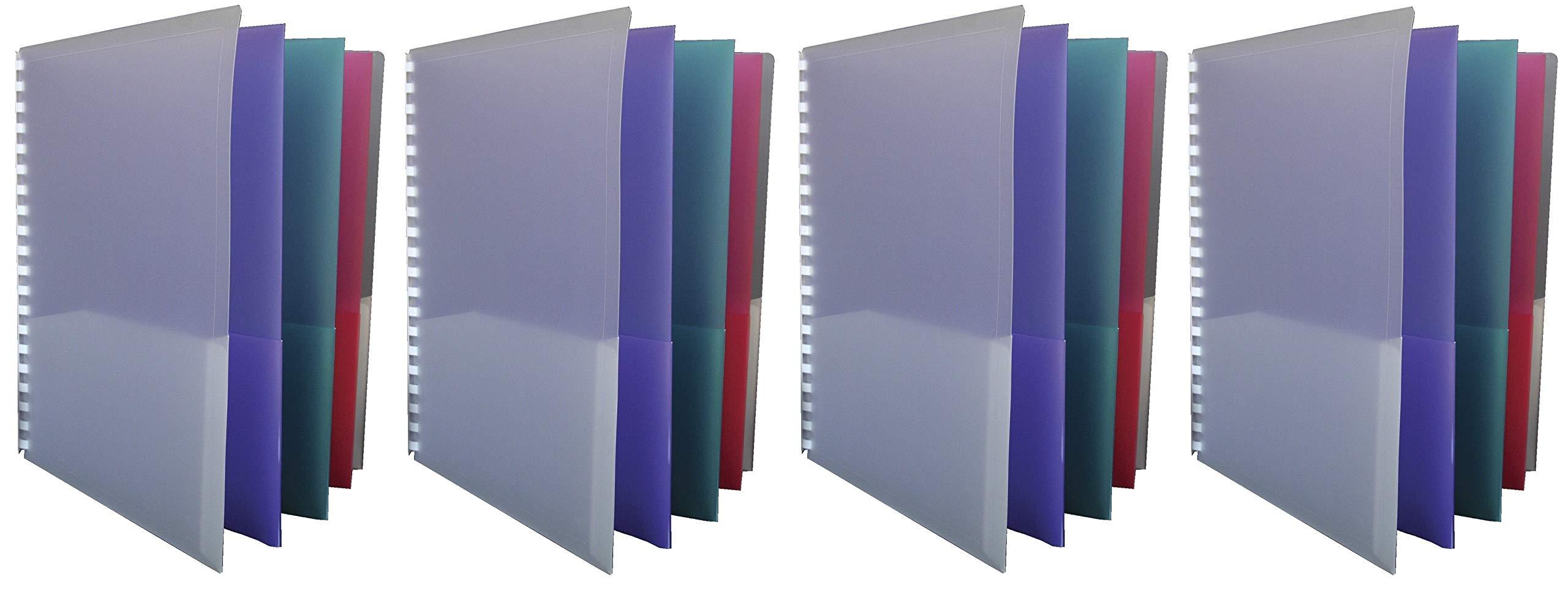 School Smart 8-Pocket Project Organizer, Polypropylene, Multicolor (Fоur Paсk) by School Smart