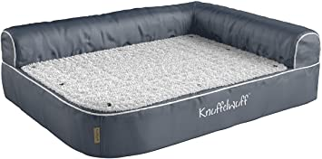 knuffelwuff almohada ortopédica esquina cama para perros Ortho Bed Arizona gris 83 cm