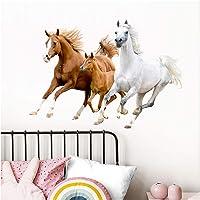 Little Deco Muursticker paarden I M - 55 x 38 cm (B x H) I Muursticker Pony Muursticker Meisje Kinderkamer Decoratie…