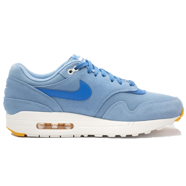 NIKE Air Max 1 Premium, Chaussures Blue/Mountain de Gymnastique Homme 42 EU Multicolore (Work Blue/Mountain Chaussures Blue/Yellow Ochre 404) 235d43