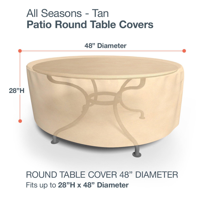 Amazon.com : Budge All Seasons Round Patio Table Cover, Medium (Tan) :  Patio Table Covers : Patio, Lawn U0026 Garden