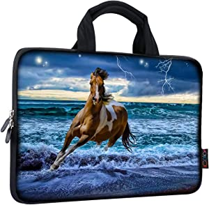 ICOLOR 14 15 15.4 15.6 inch Laptop Handle Bag Computer Protect Case Pouch Holder Notebook Sleeve Neoprene Cover Soft Carring Travel Case for Dell Lenovo Toshiba HP Chromebook ASUS Acer Horse ICB-04