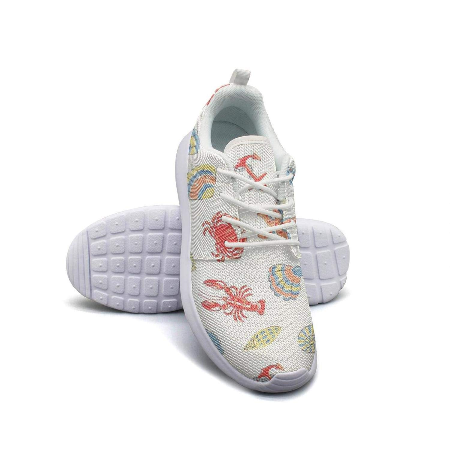Whale Lighthouse Anchor Pink Gray Running Shoes Lightweight Men Sneaker Walking Shock Absorbing Shoes