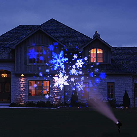 Christmas Projector Lights.Eambrite Christmas Projector Lights Led White Blue Rotating Snowflake Snowstorm Projector Light With Snowfall For Birthday Wedding Theme Party Garden