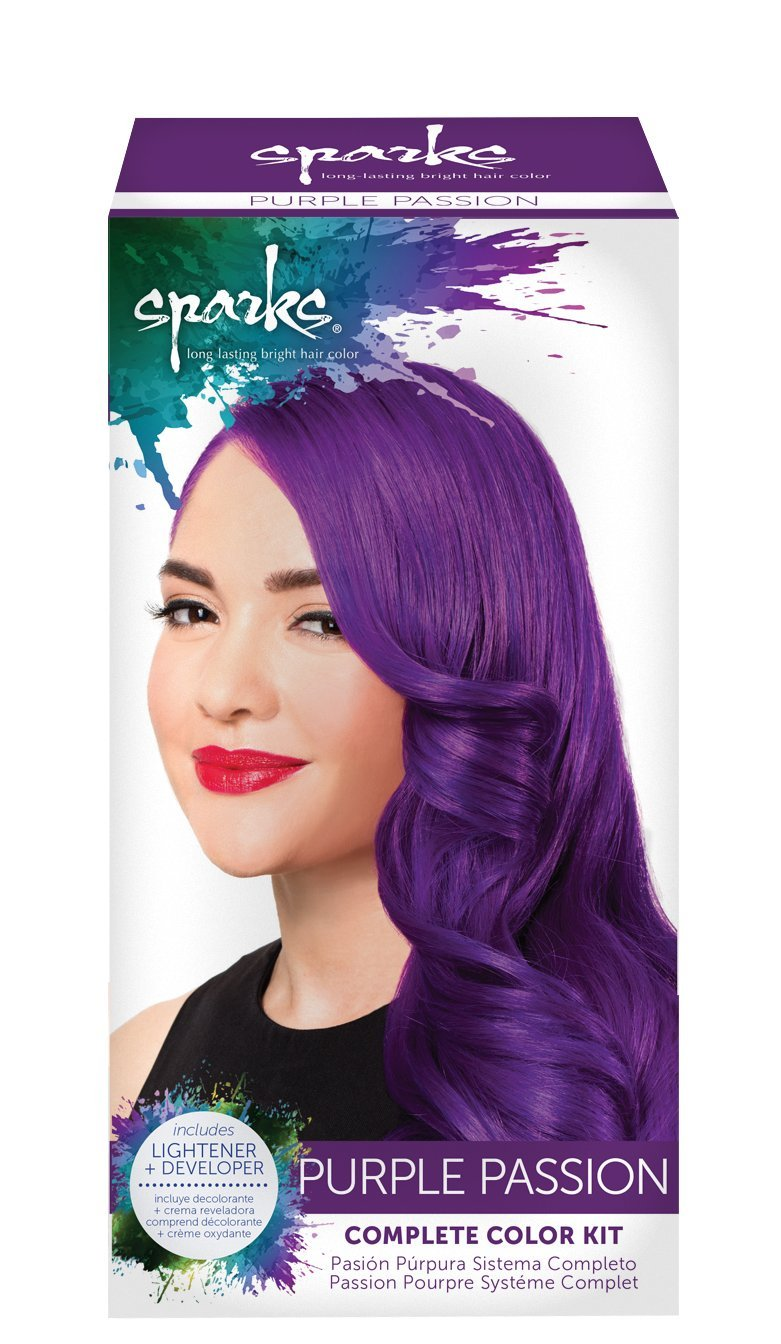 Amazon Sparks Long Lasting Bright Hair Color Purple Passion