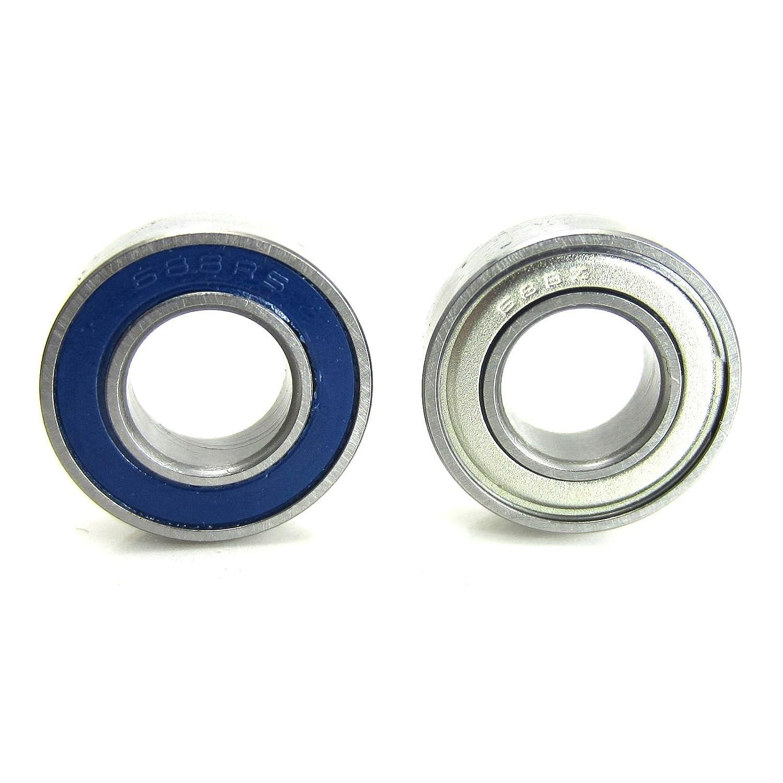 TRB RC 8x16x5mm Flanged Precision Ball Bearings Steel ABEC 5 Hybrid Seals 2