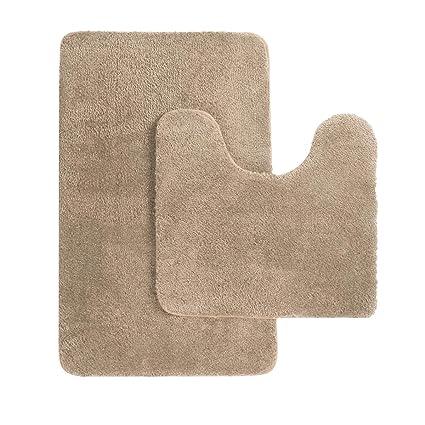 Amazon.com: MAYSHINE Bath mat sets for bathroom rugs and 2 Piece ...