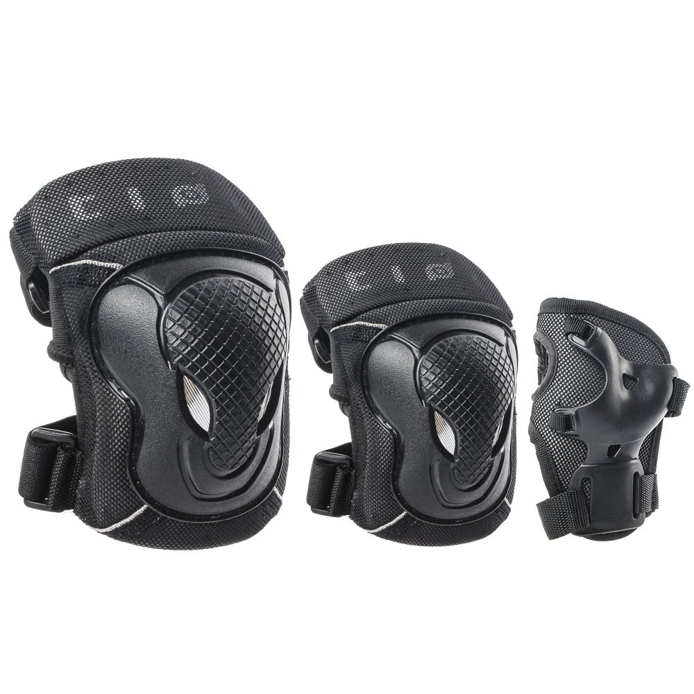 GES Adult/Child Knee Pads Elbow Pads Wrist Guards Protective Gear Set Sports Safety Pad for Roller Skatings Skateboarding Inline Scooter Riding BMX Bicycle Cycling Pack of 6 (Child)