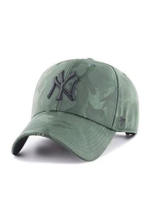 89ac3a62 47 Brand Adjustable Cap - Jigsaw New York Yankees dark green: Amazon ...