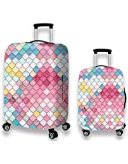 YAKEFJ Travel Rolling Luggage CoverCute 3D Luggage Protector Suitcase Cover