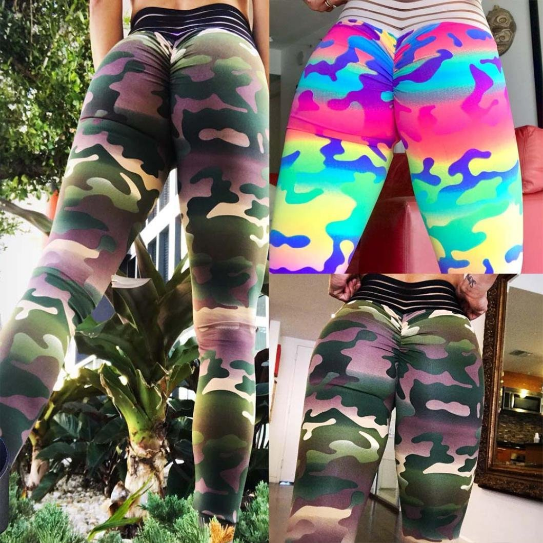 f36cc258b8548 ... Clearance Sale Women Camouflage Trousers,Vanvler Ladies Leggings Sexy  Yoga Pants Push Up for Fitness ...