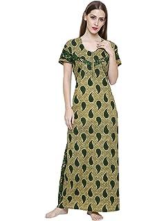 1a1fcf8afe Secret Wish Women s Green Printed Maternity Cotton Nighty ( Free Size )