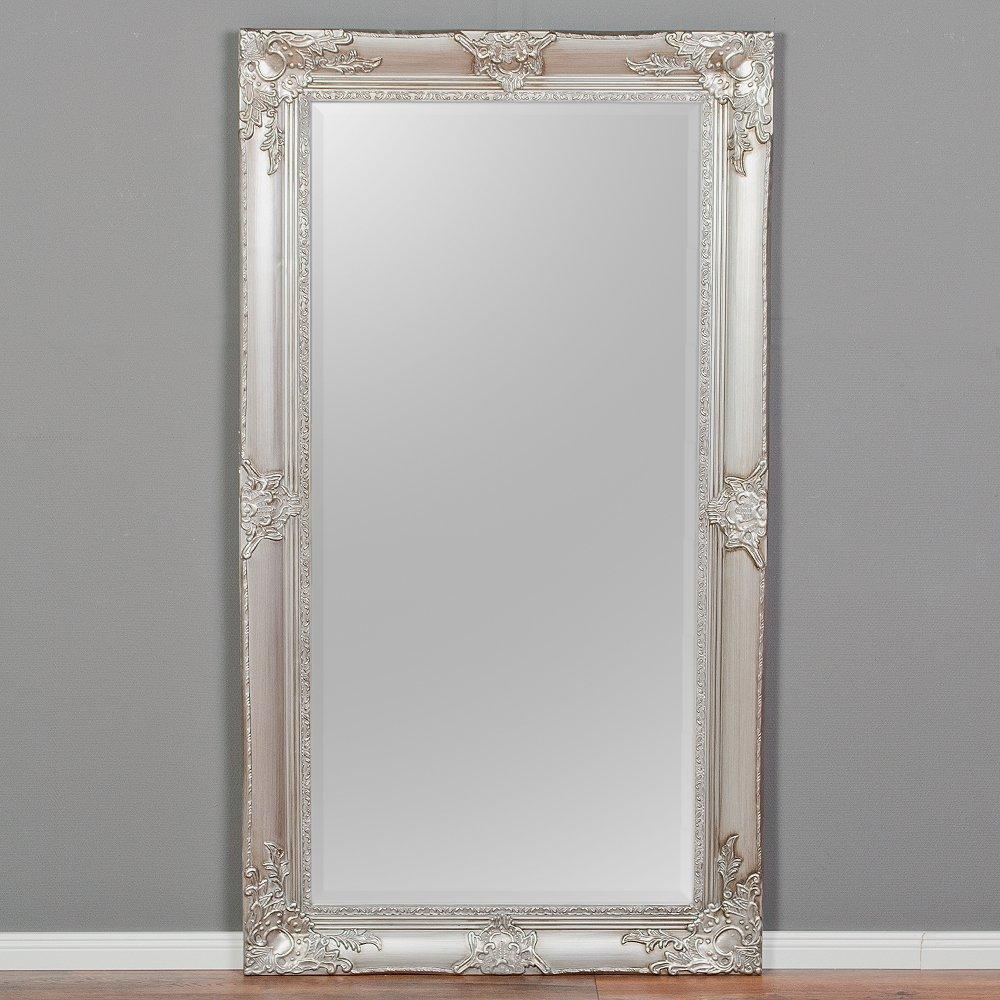 LEBENSwohnART Spiegel Marlon-XL Silber 180x100cm Wandspiegel pomp/ös barock Holzrahmen Facette