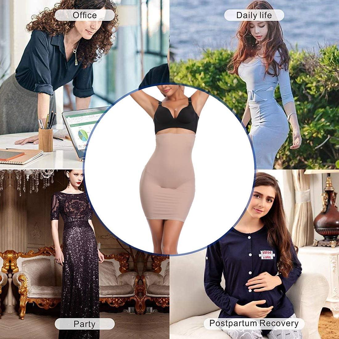 Joyshaper Half Slips for Under Dresses Women Tummy Control Seamless Slip Slimming Shapewear at  Women's Clothing store