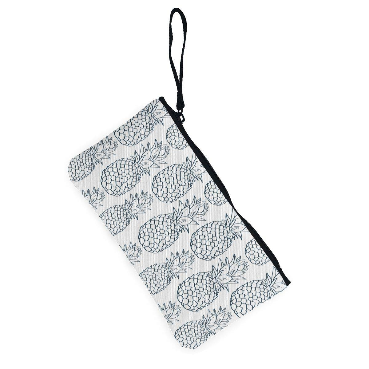 Bk55Oi/&/& Womens Vintage Coin Purse Fruit Pattern Canvas Card Wallet with Zipper for Women