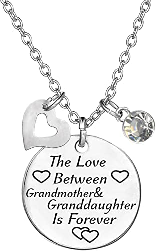 Love Between Grandmother Granddaughter Is Forever Silver Necklace Grandaughter 2