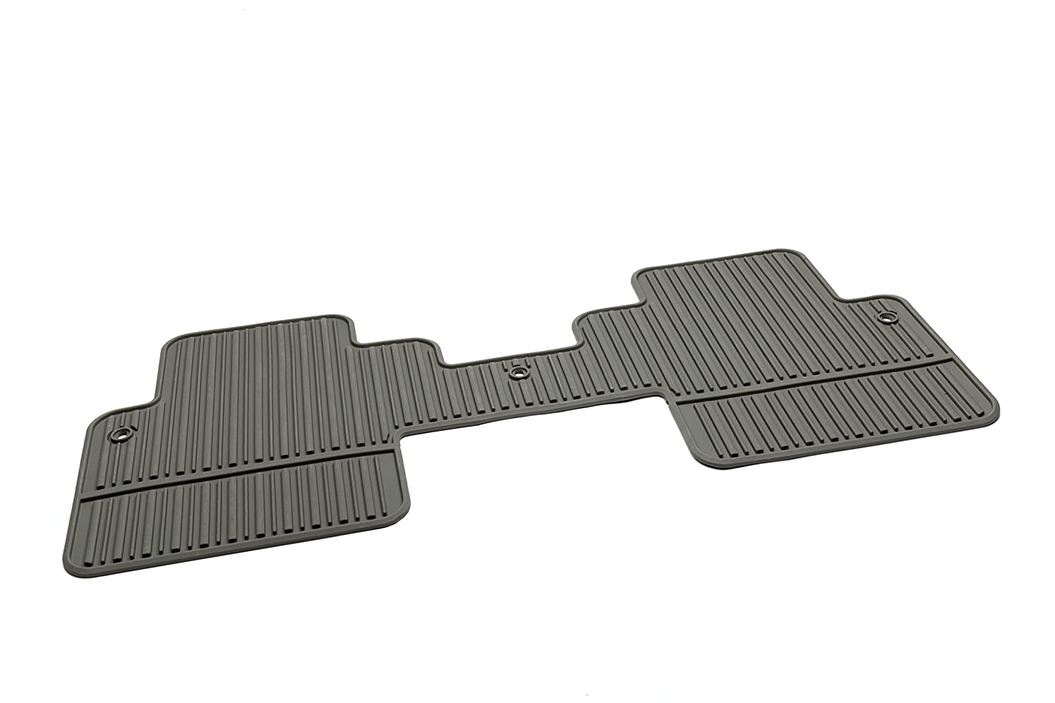 GM Accessories 22890474 Second Row 1-Piece All-Weather Floor Mat in Ebony with Diamond Pattern