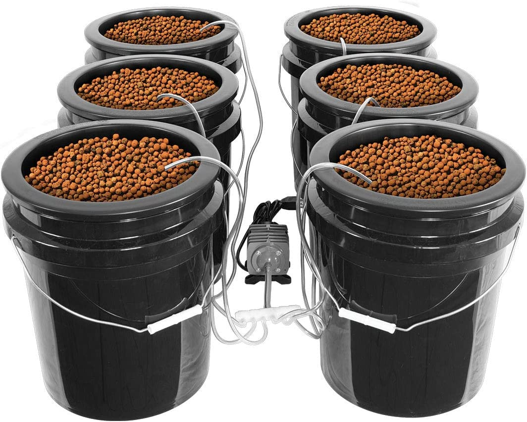 HTGSupply Bubble Brothers 6-Site XL DWC Hydroponic System