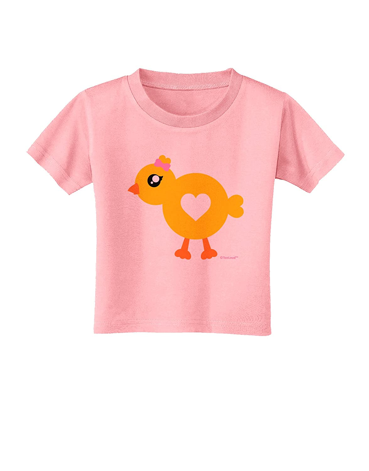 TooLoud Cute Chick with Bow Toddler T-Shirt