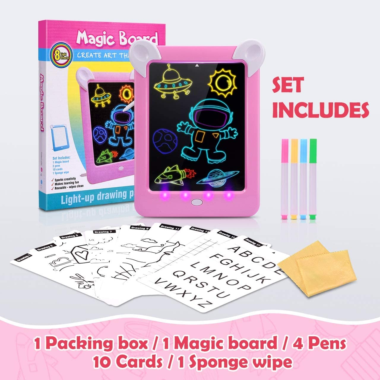 DreamToy Piatto fluorescente per bambini