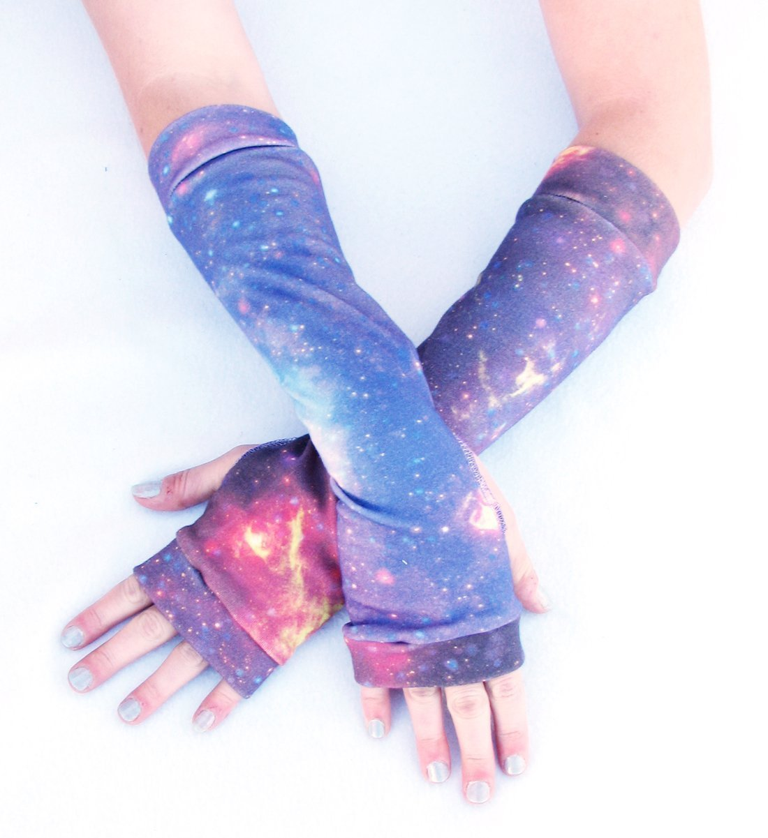 Galaxy Space Arm Warmers Gloves