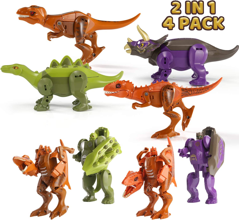 Transformation Dinobot Tyrannosaurus Rex Triceratops Robot Action Figure Toys