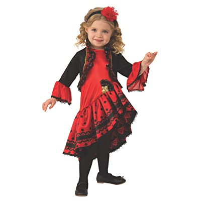 Rubie's Kid's Opus Collection Lil Cuties Spanish Dancer Costume Baby Costume, As Shown, Toddler: Toys & Games