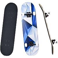 """YUDOXN Completo Skateboard para Principiantes, Adolescentes, niños, niñas.31""""x 8"""" Skateboard 7 Capas Monopatín de Madera…"""