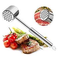 Samione Martello di Carne, martello di carne in acciaio inox batticarne strumento pesto manuale carne/manzo, pollo bistecca di maiale di accessori da cucina