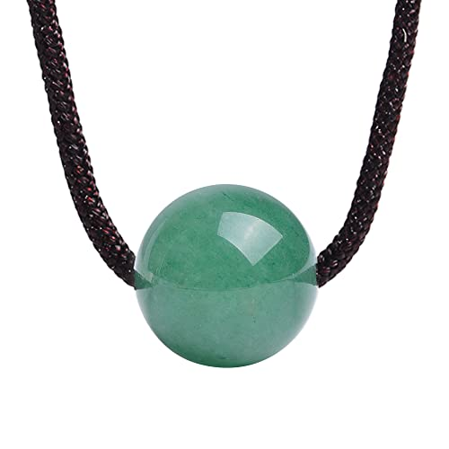 Aventurine Pendant Amazon istone natural green jade aventurine round shape pendant istone natural green jade aventurine round shape pendant necklace rope chain 18 inch audiocablefo