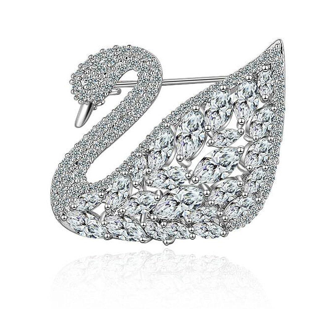Mode Swan Form Silber Brosche Zubehö r Wenwan 925