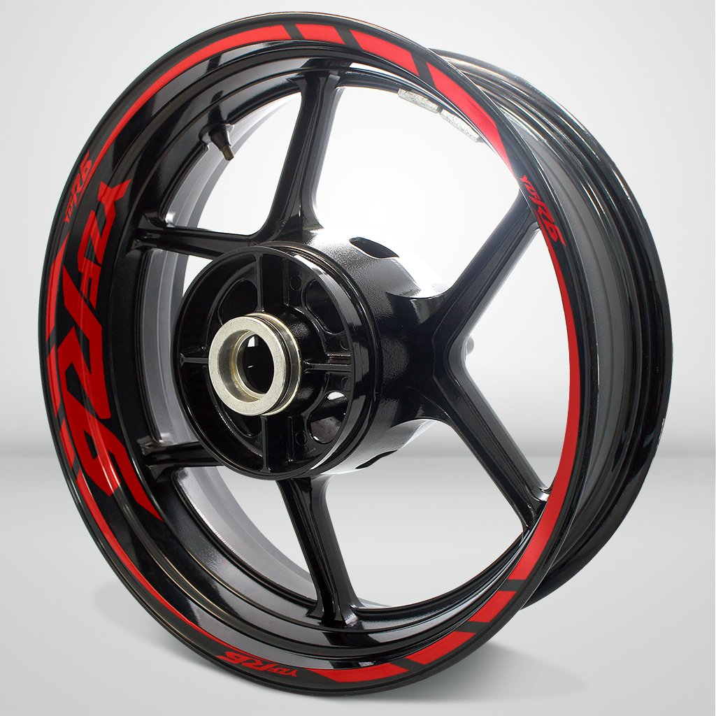 Yamaha YZF R6 Gloss Red Motorcycle Rim Wheel Decal Accessory Sticker