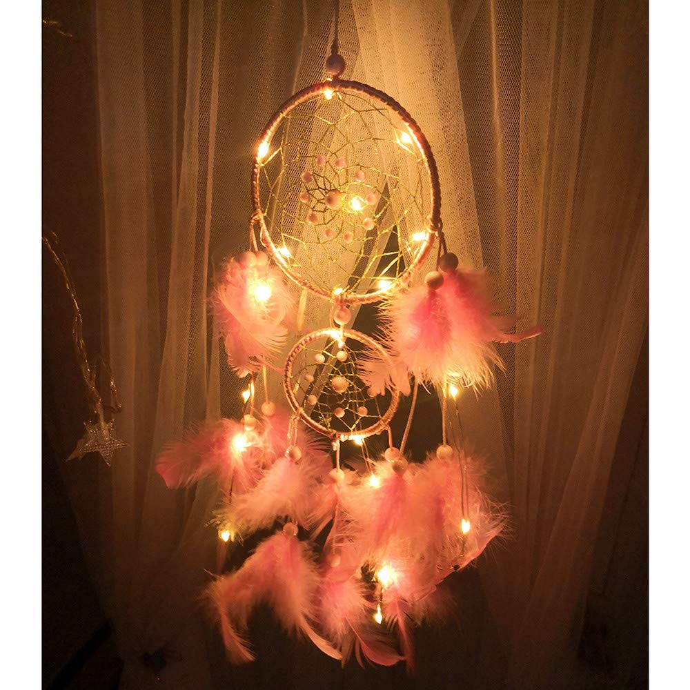 Diadia LED Color Dreamcatcher Fairy Lights Bell for Christmas, Halloween Party, Curtain, Patio, Garden, Wedding, Christmas Tree, Event Decorative (10 x 47 cm)