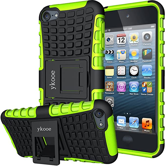 ykooe iPod Touch Hülle für iPod Touch 5/6 Hülle, (TPU Series) Silikon Stoßfest Touch 6 Schutzhülle Ständer Armor Drop Resista
