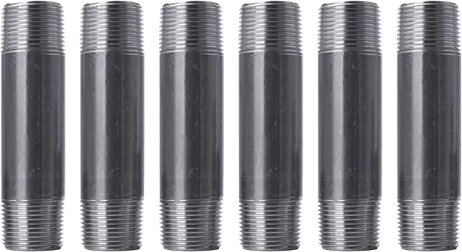"""5 1//2/"""" x 18/"""" Black Iron Malleable Gas Pipe Nipple Fitting Pack of"""